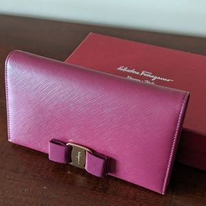 Burgundy Ferragamo crossbody